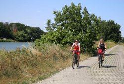 Fahrradtour entlang des Mulderadwegs bei Dehnitz. Foto: Andreas Schmidt