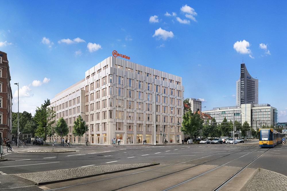 Der geplante Neubau am Grimmaischen Steinweg. Visualisierung: OFB Projektentwicklung GmbH