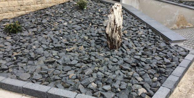 Schotterstück als Vorgarten. Foto: L-IZ