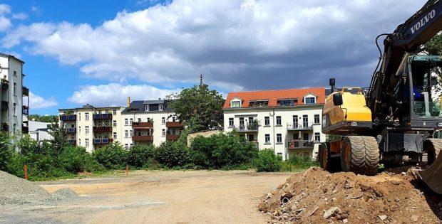 Platz für neue Wohnbebauung an der Shakespearestraße. Foto: Tim Elschner