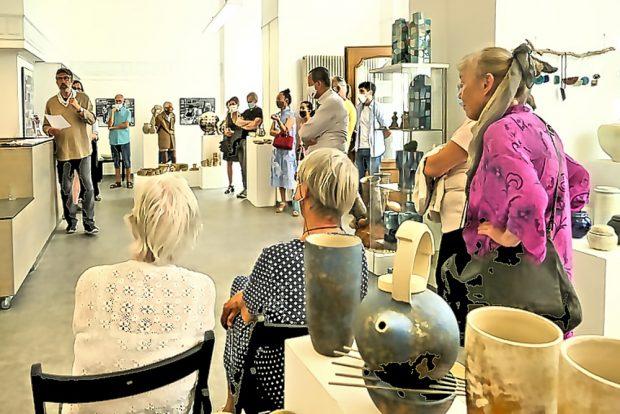 Eröffnung der letzten Ausstellung in der Terra Rossa im Juni. Foto: Detlef Rohde