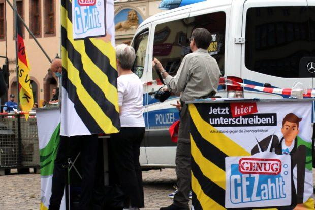 Ein Klassiker von Pegida und der AfD: Weg mit dem öffentlich.rechtlichen Rundfunk. Foto: L-IZ.de