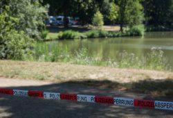 Der abgesperrte Fundort der Leiche am Donnerstag. Foto: L-IZ.de