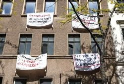 """Die """"Besetzung"""" im Mai. Foto: L-IZ.de"""