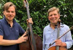 Die Gewandhaus-Musiker Slawomir Rozlach (Kontrabass) und Christian Erben (Violoncello). Quelle: Bach-Museum Leipzig/Künstler privat