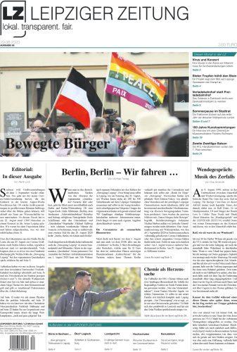 Das Titelblatt der LEIPZIGER ZEITUNG Nr. 82, Ausgabe August 2020. Foto: Screen LZ