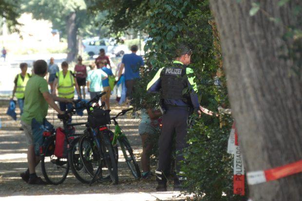 Der Fundort wurde weiträumig abgeriegelt und von der Polizei gesichert. Foto: L-IZ.de