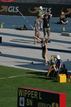Lea Wipper war mit der Bronzemedaille hochzufrieden Foto: Sebastian Beyer