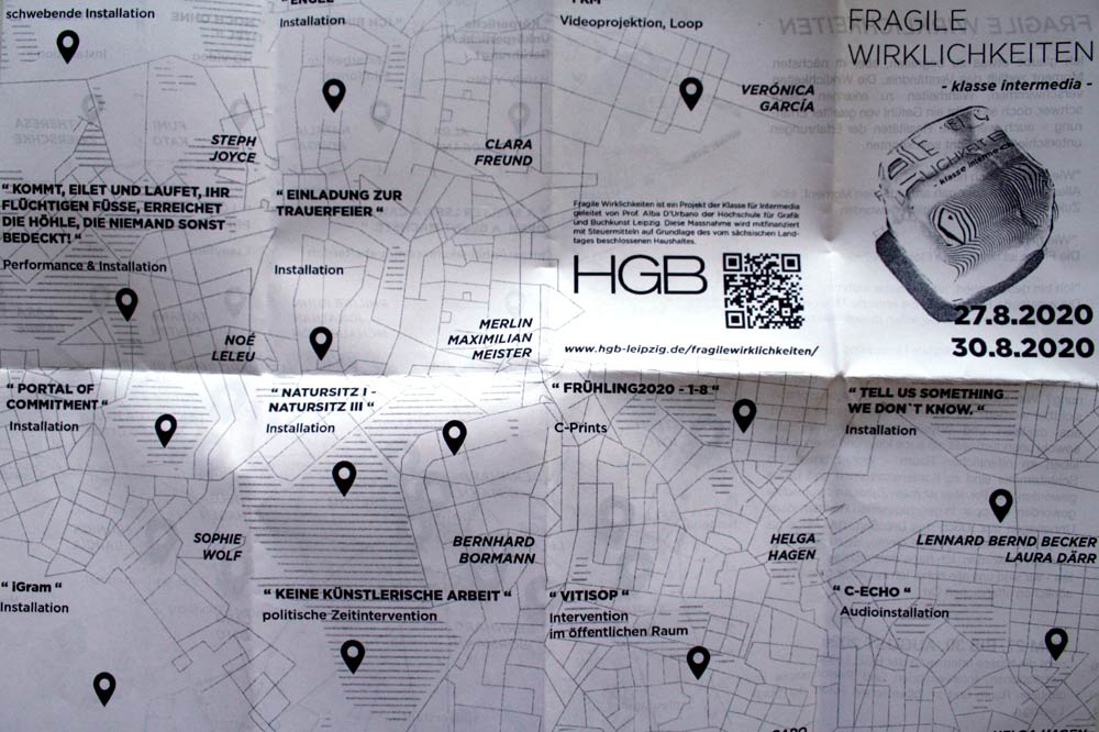 """Einladungsflyer für """"Fragile Wirklichkeiten""""."""