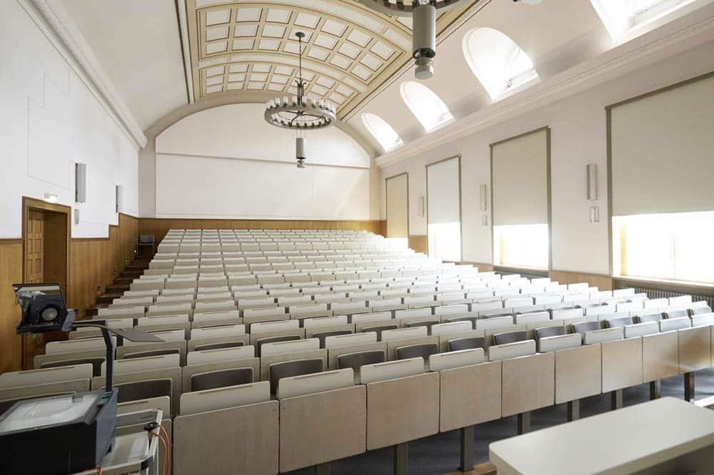 Hörsaal im Geutebrück-Bau. Foto: Stephan Floss/HTWK Leipzig