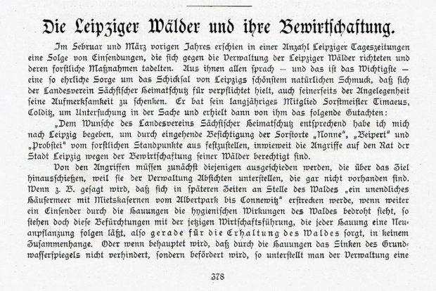 """Der Beitrag zum Leipziger Auwald im """"Grünen Heft"""" von 1915. Foto: Hans-Jürgen Dietrich"""
