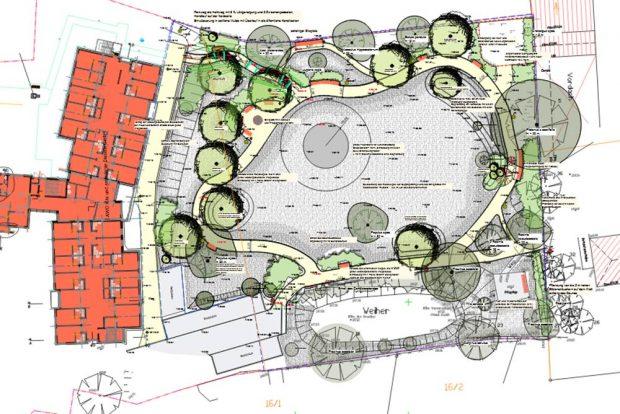 Der Entwurf für den neuen Park in Liebertwolkwitz. Grafik: Stadt Leipzig / Landschaftsplanungsbüro Köhler