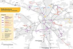 Alle angedachten Erweiterungen im Straßenbahnetz der LVB. Karte: Stadt Leipzig