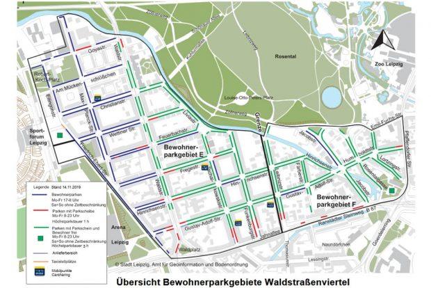 Die einzelnen Zonen im Parkraumkonzept. Grafik: Stadt Leipzig