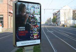Tabakwerbung im öffentlichen Raum. Foto: Ralf Julke