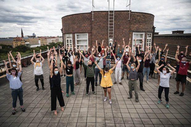 Warmmachen für den Workshop am 25. August in Leipzig. Foto: Konzeptwerk Neue Ökonomie