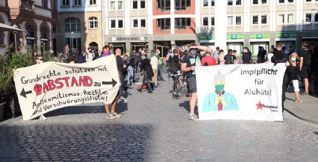 Protest gegen Verschwörungsideologien am 18. Mai 2020. Archivfoto: L-IZ.de