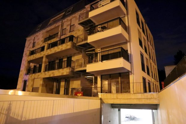 Das attackierte Wohngebäude an der Wolfgang-Heinze Straße. Foto: L-IZ.de