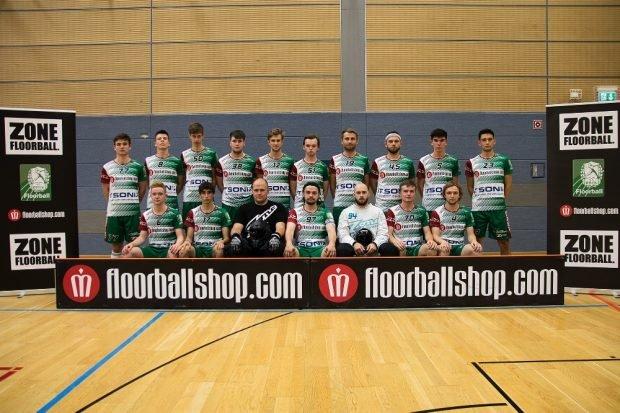 Floorball-Bundesliga-Mannschaft des SC DHfK Leipzig für die Saison 2020/21. Tino Scholz/SC DHfK Floorball