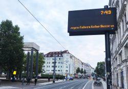 Seit 3 Uhr morgens streiken die Beschäftigten der LVB. Foto: L-IZ