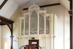 Mendelssohn-Schweinefleisch-Orgel der Auferstehungskirche Möckern. Foto: Kirchgemeinde