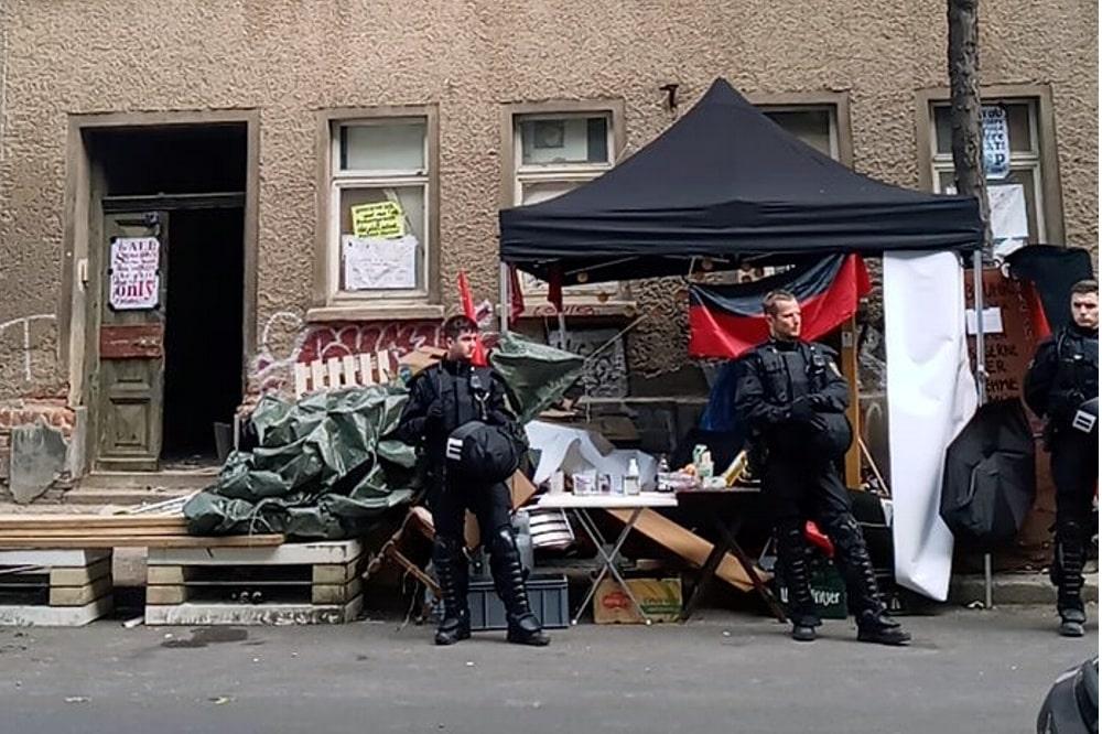 Räumungs- und Sicherungseinsatz an der Ludwigstraße 71 am 2. September 2020 ab etwa 6 Uhr. Foto: Privat
