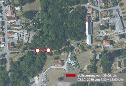 Vollsperrung Bergweg Gestewitz. Quelle: Stadtverwaltung Borna