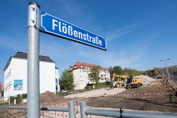 An der Flößenstraße in Leipzig entstehen bis Ende 2022 insgesamt 159 mietpreisgebundene Wohnungen. © Wohnpark Flößenstraße OHG / Anika Dollmeyer
