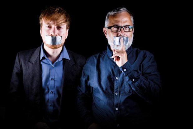 Karl Bär und Alexander Schiebel. Foto: Umweltinstitut / Jörg Farys