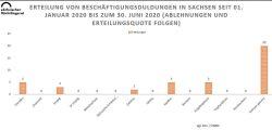 Beschäftigungsduldungen in Sachsen. Grafik: Sächsischer Flüchtlingsrat