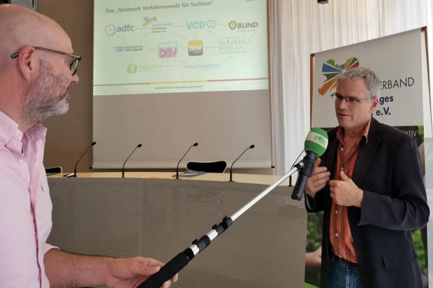 Ralf Elsässer vom Landesverband Nachhaltiges Sachsen im Interview. Foto: Landesverband Nachhaltiges Sachsen e.V.