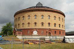 Wäre für Tim Elschner die schönere Stadtwerke-Zentrale gewesen: Gasometer an der Roscherstraße. Foto: Ralf Julke