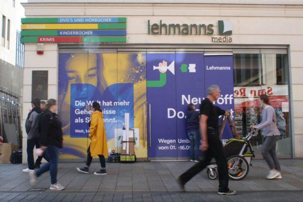 Aus Lehmanns wird Thalia. Foto: Ralf Julke