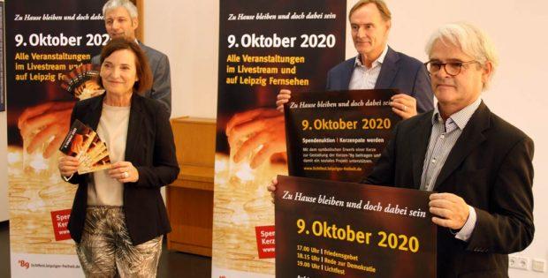 Vorstellung Lichtfest 2020 mit Bernhard Stief, Marit Schulz, Burkhard Jung und Michael Koelsch. Foto: Ralf Julke