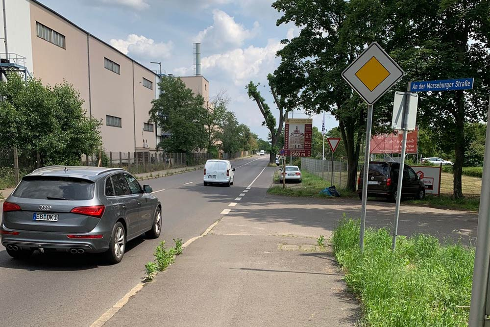 Merseburger Straße stadteinwärts. Foto: Kerstin Käßner