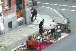 Auch in diesem Jahr wurden Parkplätze in Leipzig in Kleingärten, Spielplätze und Sitzecken verwandelt. Foto: Ralf Julke