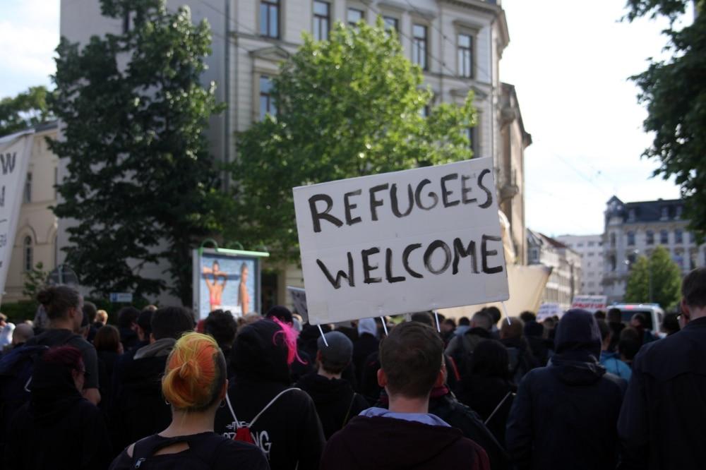 Demonstration in Leipzig zur Aufnahme von Flüchtlingen. Archivfoto: L-IZ.de