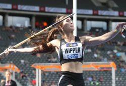 Speerwerferin Lea Wipper (SC DHfK Leipzig) jagte von einer Bestweite zur nächsten. Foto: Jan Kaefer