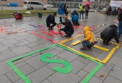Gestern vor dem Neuen Rathaus. Quelle: Parents for Future