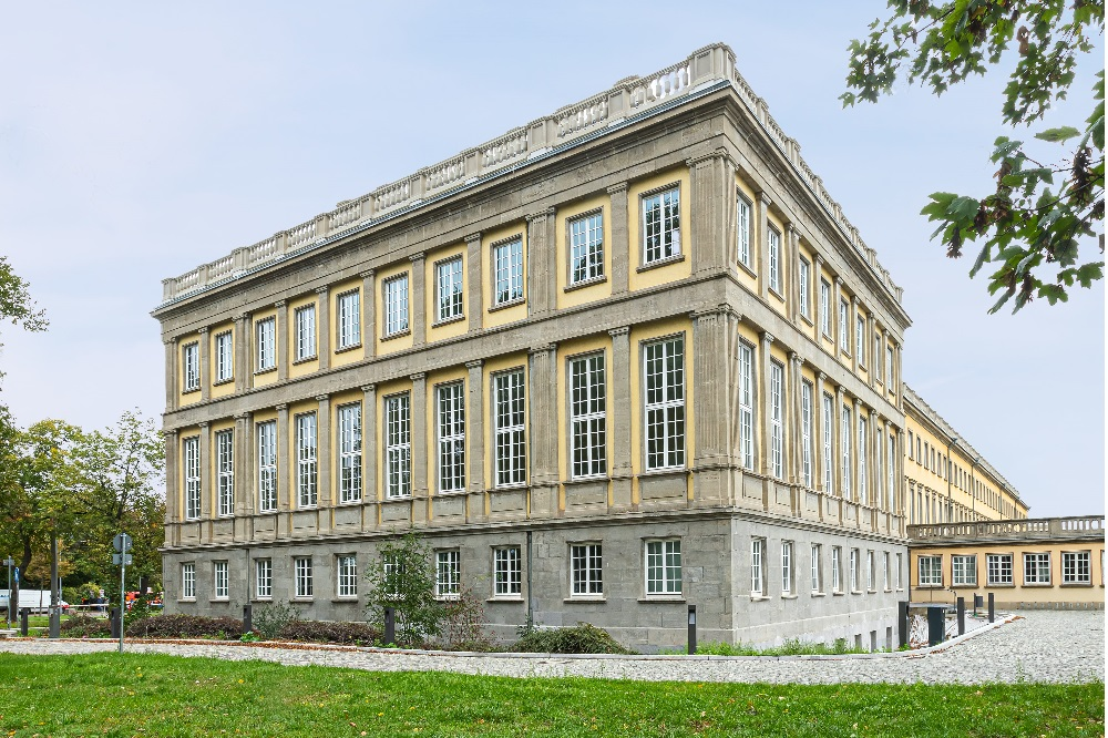 Turm auf dem Campus Jahnallee © Quelle: Swen Reichhold/Universität Leipzig