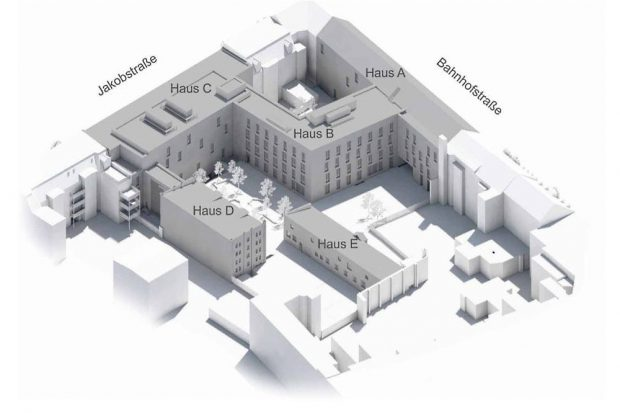 Visualisierung geplanter Gebäudekomplex Sammlungs- und Forschungsgebäude Senckenberg Görlitz © RBZ Generalplanungsgesellschaft mbH Dresden