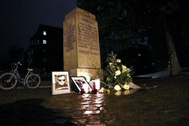 Das Gedenken an der ehem. Synagoge in der Gottschedstraße. Foto: L-IZ.de