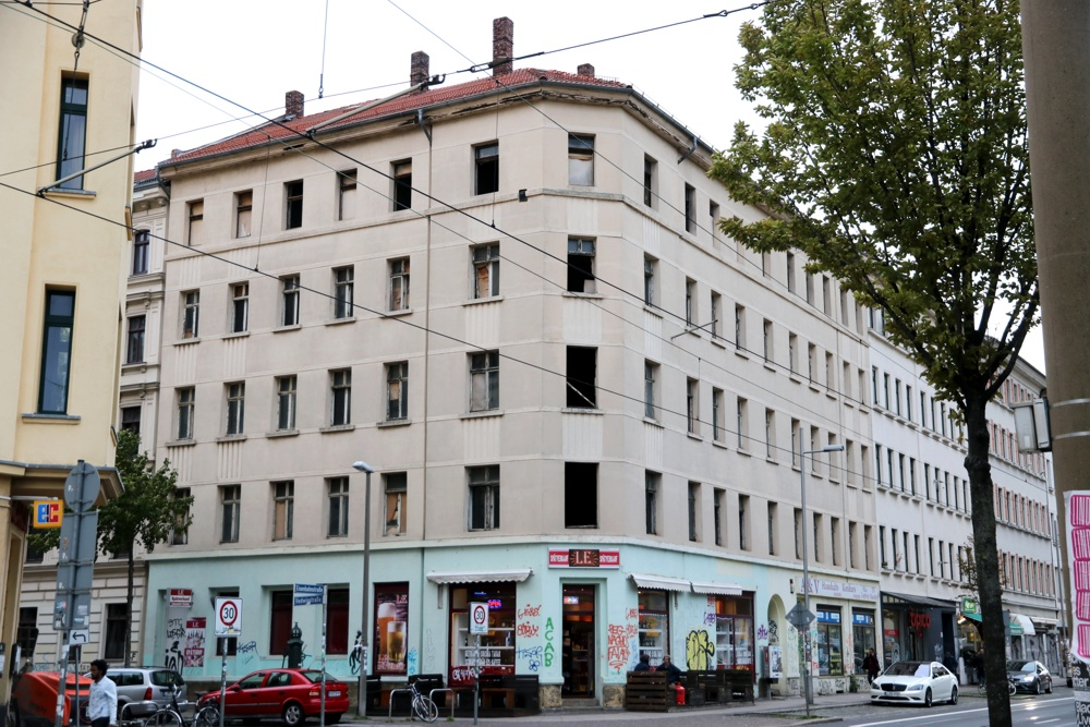Eisenbahnstraße 55 (Ecke Hedwigstraße). Foto: L-IZ.de