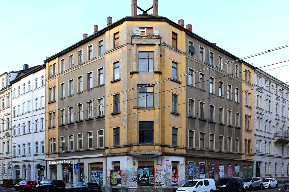 Georg-Schumann-Straße 16 (vermutlich noch 1 bewohnte Wohnung). Foto: Privat