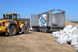 Illegaler Abfalltransport aus Italien Gestoppt am Hermsdorfer Kreuz im März 2019. Foto: Autobahnpolizei Thüringen