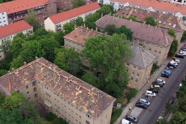 Kantstraße 55 bis 63: minimal bewohnt, leergezogen. Foto: Privat