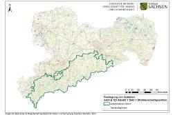 Karte der Radonvorsorgegebiete