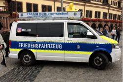 Sieht aus wie Polizei, ist aber keine. Foto: L-IZ.de