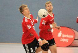Sven Kletzin und Luis Zang vom TV Rendel. Quelle: SC DHfK Leipzig