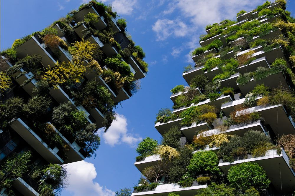 The Bosco Verticale in spring, Marco Sala, CC BY-SA 4.0, Wikimedia Commons